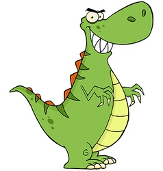 Angry Dinosaur Cartoon Character vector