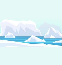 arctic landscape beauty north pole glacier vector image