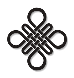 Auspicious endless knotbuddhist symbolblack vector