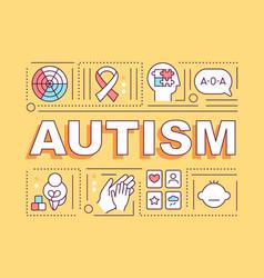 Autism word concepts banner vector