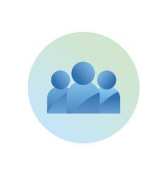 Avatars profiles gradient style icon design vector