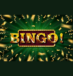 bingo casino banner vector image