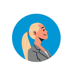 blonde businesswoman avatar woman face profile vector image