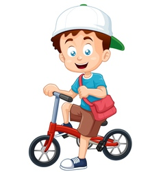 Boy on bicycle vector image
