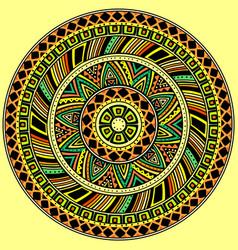 bright round ethnic pattern vector image