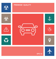 car symbol line icon elements for your design vector image