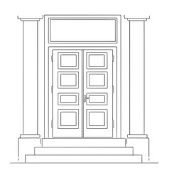 cartoon bank or government institution classic vector image
