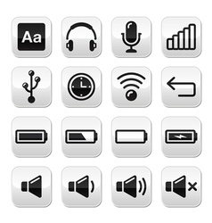 CElectronic device Computer software buttons set vector