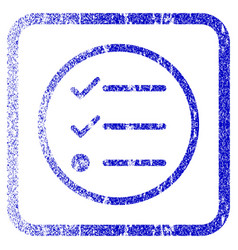 Checklist framed textured icon vector