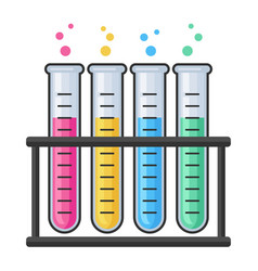 chemistry research laboratory test glass tube vector image