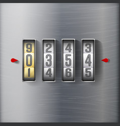 combination lock realistic metal vector image