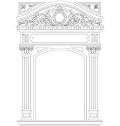 Contouring coloring of classical arch vector