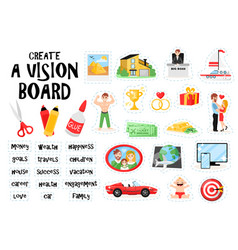 create vision board set vector image