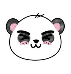 Cute panda bear face vector