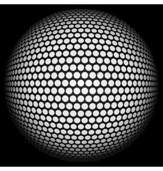 Dotted halftone sphere vector