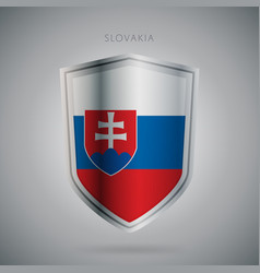 Europe flags series slovakia modern icon vector