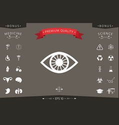 eye icon symbol vector image