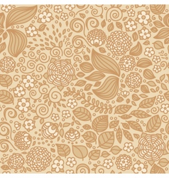 Floral doodle wallpaper seamless pattern vector
