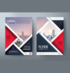 flyer cover presentation template layout in a4 vector image