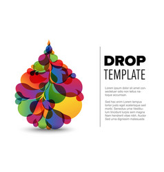 flyer template with droplet vector image