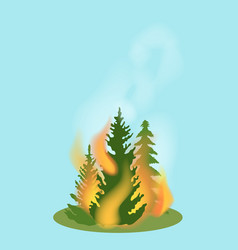 Forest fire isolated icon vector