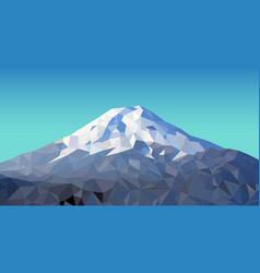 fuji mountain vector image