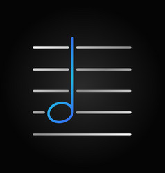 g music note linear colored icon or symbol vector image