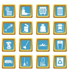 garbage thing icons azure vector image