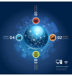 Global internet communication with orbits vector