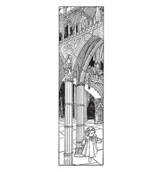gothic church interior is found in novelist vector image