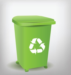 Green recycle bin vector