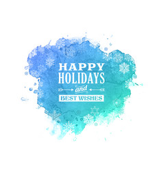 happy holidays greetings card christmas background vector image