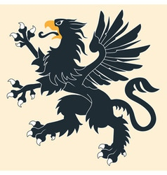 Heraldic griffin5 vector image