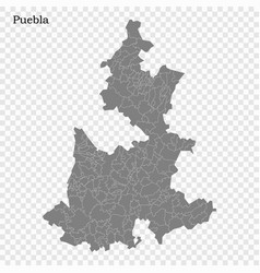 High quality map is a state mexico vector