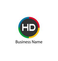 Initial hd letter logo design vector