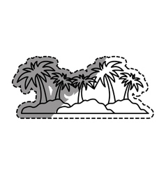 Island palm tree vector