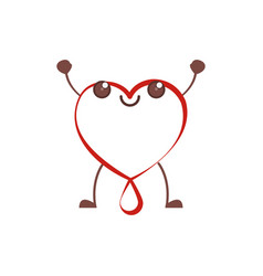 kawaii heart blood donation vector image