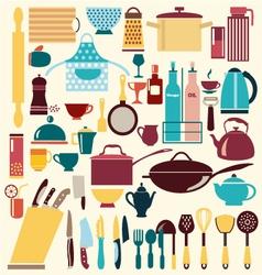kitchenware set - vector image vector image