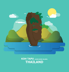 Koh tapu james bond island amazing place vector