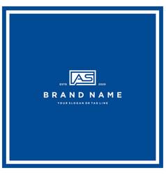 Letter as rectangle logo design vector