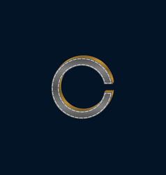 letter c film creative logo design vector image