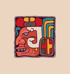 Letter j logo in aztec mayan or incas style vector