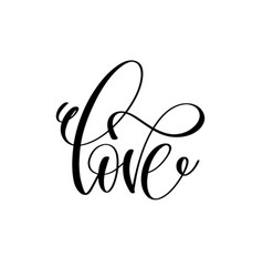 Love handwritten typographic poster ink handmade vector