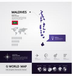 Maldives map illstration vector