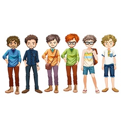 Men in different clothes design vector