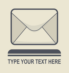 message icon flat design vector image