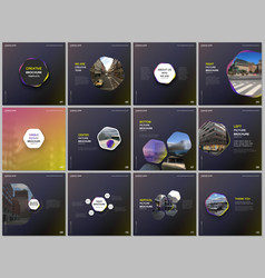 minimal brochure templates with yellow color vector image