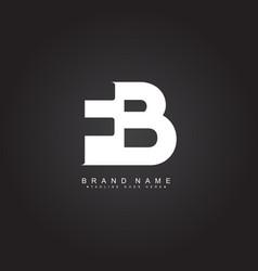 Minimal logo for initial letter fb vector