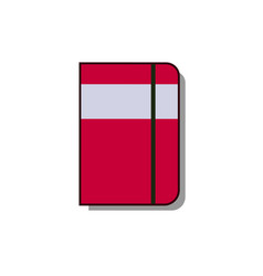 Moleskin notebook icon flat vector