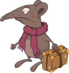 Mouse traveller vector